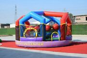 New Inflatable 3 In 1 Combo Game Of Wrecking Ball / Dodge Ball / Rockinand039 Joust