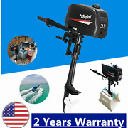 2 Stroke 3.5hp Outboard Motor Marine Boat Engine Water Cooling And Manual Tilt Us