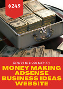 Money Making Adsense Business Ideas Website For Sale - Earn Up To 1000 Monthly
