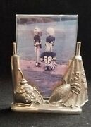 Lenox Kirk Stieff Pewter Picture Frame Football