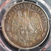 1870-gac Mexico 2nd Rep. Silver Peso Coin. Scarcest Key-date And Mint Pcgs Xf+