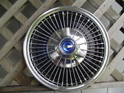 One Vintage 1966 1967 Ford Mustang Fairlane Falcon Spinner Hubcap Wheel Cover