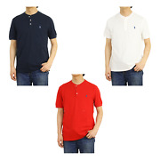 Polo Short Sleeve Featherweight Mesh Henley T-shirt Tee - 3 Colors
