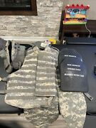 Army Acu Digital Plate Carrier Size Medium With Kevlar Inserts And 7.62 Plates