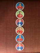 1967-68 El Producto Hockey Coasters Complete Set 6 Still Attached Kwl_cards