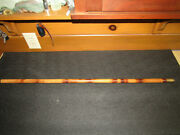 Antique Bamboo Fly Rod Tip Tube With Brass Screw Off Cap For Early Rod Bag