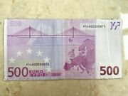 2002 500 Euro Banknote Netherlands Germany France P14000300875 Collectible
