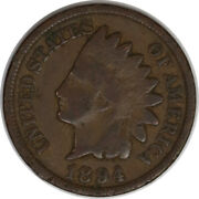 1894 1c Indian Head Cent/penny Raw Circulated Us Coin