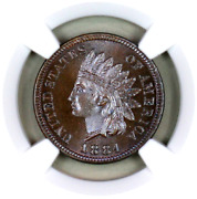1884 Pf66 Bn Ngc Indian Head Penny Premium Quality Proof Example