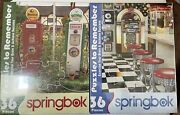2 Springbok 36 Piece Jigsaw Puzzles To Remember Coffee Station, The Malt Shop