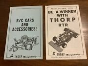 Vintage Original Thorp Catalogs Box Papers 2 Different Rc 1/8 Racing 35 Pages