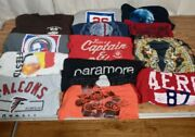 A Lot Of 13 Vintage To Modern Graphic T-shirts Band Comic Various Sizes Preowned