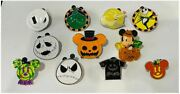 11 Disney Mickey Mouse Halloween Themed Pins Nightmare Before Christmas