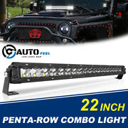 22inch 960w Led Light Bar Penta Row Spot Flood Combo Work 4wd Truck Suv Atv 24and039and039
