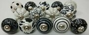 200 Pc Mix Black And White Ceramic Knobs Door Handle Cabinet Drawer Cupboard