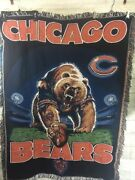 Rare- Chicago Bears Tapestry Woven Throw Blanket 45x60 The Northwest Company Nfl