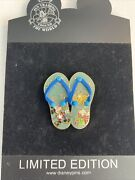 Disneyshopping - Sandals Series - Mickey Mouse And Pluto Flip Flops Le 250 B
