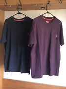 2 Supreme Pocket Tees T Shirts Size Large Blue And Burgundy Ss15 Nike Yeezy