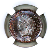 1907 Ms66 Bn Ngc Indian Head Penny Premium Quality Superb Eye Appeal