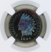 1894 Pf64 Bn Ngc Indian Head Penny Premium Quality Proof Example