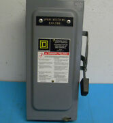 Square D D322n Series F01 Fusible Safety Switch 60amp 50/60hz