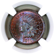 1871 Ms64 Bn Ngc Indian Head Penny Premium Quality Superb Eye-appeal