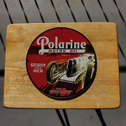 Vintage Polarine And039and039sturdy And Richand039and039 Motor Oil Porcelain Gas And Oil Pump Sign