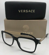 New Versace Reading Glasses Ve 3218 Gb1 55-17 145 Black And Gold Frames Readers