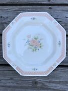 Nikko Classic Collection Cameo Rose Set Of 4 Vintage Cottage Dinner Plates