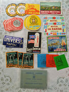 25 Pc Lot Vintage Luggage Labels And American Express Ticket Wallet 1950-1960's