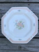 2 Nikko Classic Collection Cameo Rose Set Of 4 Vintage Cottage Dinner Plates