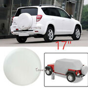 Spare Tire Cover Wheel Tire Cover Pure White Fit For Jeep Wrangler 17 Size Xl