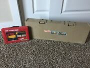 Vintage Mattel/hot Wheels Freight Yard Stow/go And 1984 Take-a-long Train Set/case