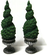 Lemax Christmas Village Topiary Ornamental Twisted Tree Porch Decorations 3