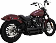 Vance And Hines Black Mini Grenades Exhausts 2018 + Softail - 46878