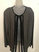 Ming Wang New Heritage Fit Black/gray Neck Closure Jacket Size 3x