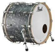 Pearl Music City Custom Reference Pure 24x18 Bass Drum W/ Mount Pewter Abalone R