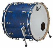 Pearl Music City Custom Reference Pure 24x18 Bass Drum W/ Mount Blue Abalone Rfp