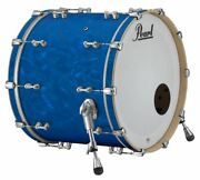 Pearl Music City Custom Reference Pure 22x18 Bass Drum Blue Satin Moire Rfp2218b
