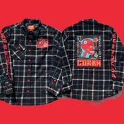 Logic Coadm Flannel Jacket Tour Merch Padded Button Down Quilted Last S/m/l/xl