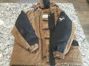 Vintage 90s Brown Triple Fat Goose Duck And Waterfowl Down Jacket L Rare Ski Sno