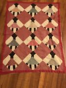 Vintage Antique Handmade African Patchwork Hanging Wall Art Tapestry Quilt