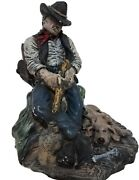 Western Cowboy Figurine Statue Collectible Billy The Kid