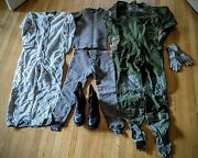 1980s Usaf F-16 Pilot Gear Anti-exposure Suit Liner Thermals Gloves Flight Boots