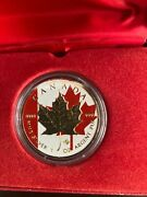2014 1oz Canadian Maple Leaf Silver Coin Color And 24k Golg Glided Edition