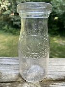 C.30and039s 40and039s Banquet Dairy Embossed Graphic Half Pint Milk Bottle Indianapolis