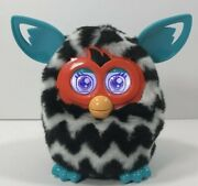 Furby Boom 2012 Black White Teal Zig Zags Stripes Working Interactive Hasbro Toy