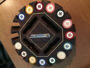 Vintage American Native Clay Poker Chips ........ Must Read Letter From Ebay