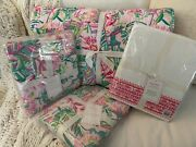 Nwt 7pc Pottery Barn Lilly Of Jungle Queen Quilt 2 Shams + Sheets Pulitzer