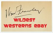 William Frawley Vintae Oriinal Signed Autograph I Love Lucy Lucille Ball And039s Fred